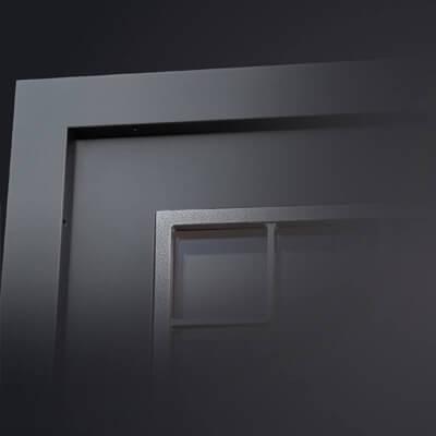 Porte d'entrée textural
